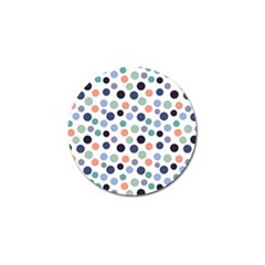 Dotted Pattern Background Blue Golf Ball Marker (10 Pack)