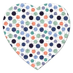 Dotted Pattern Background Blue Jigsaw Puzzle (heart) by Modern2018
