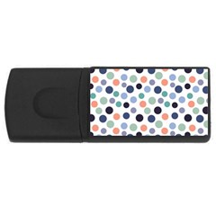 Dotted Pattern Background Blue Rectangular Usb Flash Drive