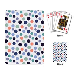 Dotted Pattern Background Blue Playing Card