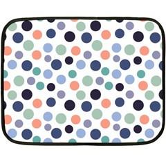 Dotted Pattern Background Blue Double Sided Fleece Blanket (mini)