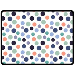 Dotted Pattern Background Blue Fleece Blanket (large)