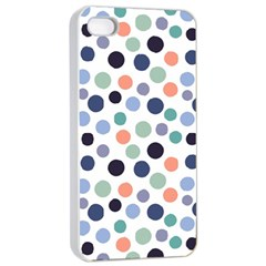 Dotted Pattern Background Blue Apple Iphone 4/4s Seamless Case (white)