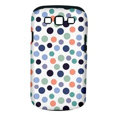 Dotted Pattern Background Blue Samsung Galaxy S Iii Classic Hardshell Case (pc+silicone)