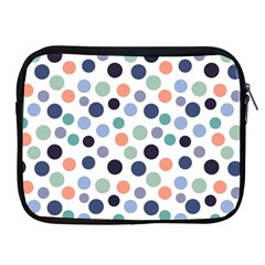 Dotted Pattern Background Blue Apple Ipad 2/3/4 Zipper Cases