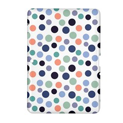 Dotted Pattern Background Blue Samsung Galaxy Tab 2 (10 1 ) P5100 Hardshell Case