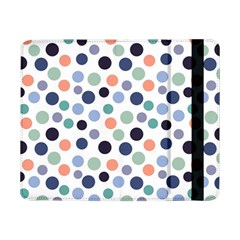Dotted Pattern Background Blue Samsung Galaxy Tab Pro 8 4  Flip Case