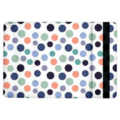 Dotted Pattern Background Blue Ipad Air Flip