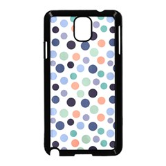 Dotted Pattern Background Blue Samsung Galaxy Note 3 Neo Hardshell Case (black) by Modern2018