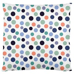 Dotted Pattern Background Blue Large Flano Cushion Case (two Sides)