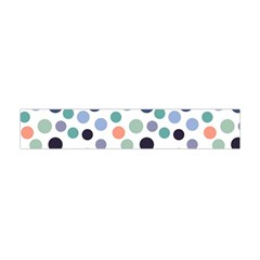 Dotted Pattern Background Blue Flano Scarf (mini)