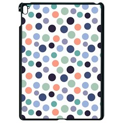 Dotted Pattern Background Blue Apple Ipad Pro 9 7   Black Seamless Case