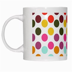 Dotted Pattern Background White Mugs by Modern2018