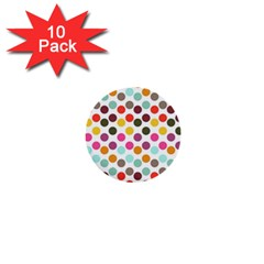 Dotted Pattern Background 1  Mini Buttons (10 Pack)