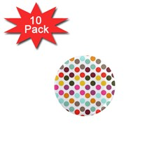 Dotted Pattern Background 1  Mini Magnet (10 Pack)