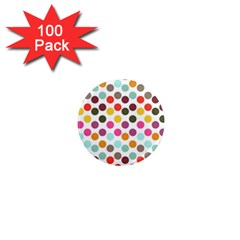 Dotted Pattern Background 1  Mini Magnets (100 Pack)