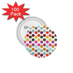 Dotted Pattern Background 1 75  Buttons (100 Pack)