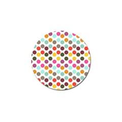 Dotted Pattern Background Golf Ball Marker