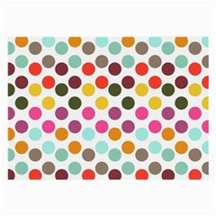 Dotted Pattern Background Large Glasses Cloth