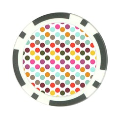 Dotted Pattern Background Poker Chip Card Guard