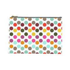 Dotted Pattern Background Cosmetic Bag (large)
