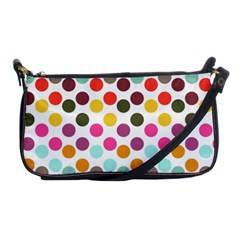 Dotted Pattern Background Shoulder Clutch Bags