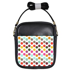 Dotted Pattern Background Girls Sling Bags