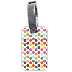 Dotted Pattern Background Luggage Tags (one Side)