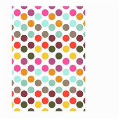 Dotted Pattern Background Large Garden Flag (two Sides)