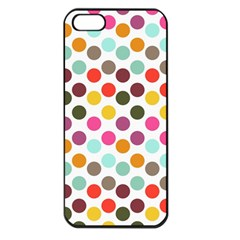 Dotted Pattern Background Apple Iphone 5 Seamless Case (black)