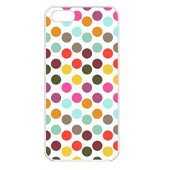 Dotted Pattern Background Apple Iphone 5 Seamless Case (white)