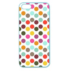 Dotted Pattern Background Apple Seamless Iphone 5 Case (color)
