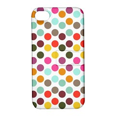 Dotted Pattern Background Apple Iphone 4/4s Hardshell Case With Stand