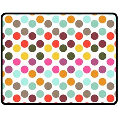 Dotted Pattern Background Double Sided Fleece Blanket (medium)