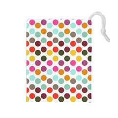 Dotted Pattern Background Drawstring Pouches (large)