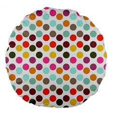 Dotted Pattern Background Large 18  Premium Flano Round Cushions