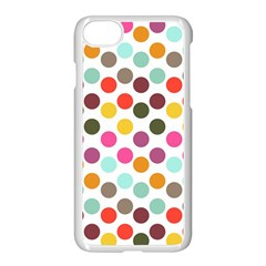 Dotted Pattern Background Apple Iphone 7 Seamless Case (white)