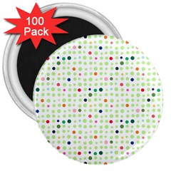 Dotted Pattern Background Full Colour 3  Magnets (100 Pack)