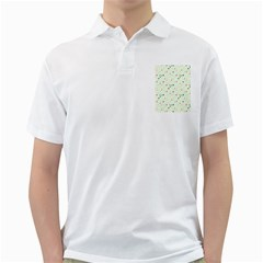 Dotted Pattern Background Full Colour Golf Shirts