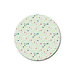 Dotted Pattern Background Full Colour Rubber Coaster (round)