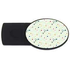Dotted Pattern Background Full Colour Usb Flash Drive Oval (4 Gb)