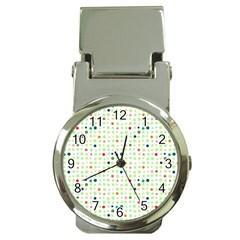Dotted Pattern Background Full Colour Money Clip Watches