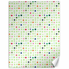 Dotted Pattern Background Full Colour Canvas 18  X 24