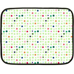 Dotted Pattern Background Full Colour Double Sided Fleece Blanket (mini)