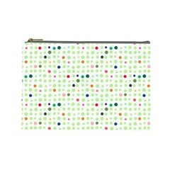 Dotted Pattern Background Full Colour Cosmetic Bag (large)