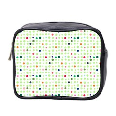 Dotted Pattern Background Full Colour Mini Toiletries Bag 2 Side