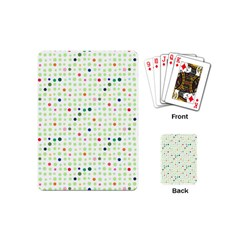 Dotted Pattern Background Full Colour Playing Cards (mini)