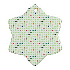 Dotted Pattern Background Full Colour Ornament (snowflake)