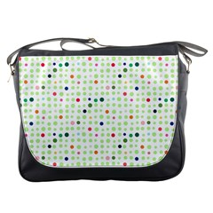 Dotted Pattern Background Full Colour Messenger Bags