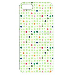 Dotted Pattern Background Full Colour Apple Iphone 5 Hardshell Case With Stand